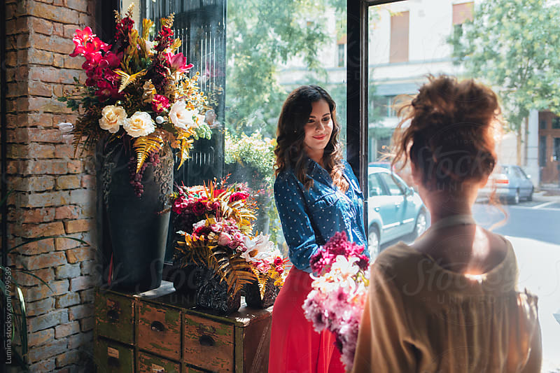 Florists Working at a Flower Shop by Lumina for Stocksy United