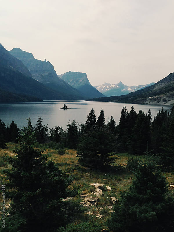 St Mary Lake by Kevin Russ for Stocksy United