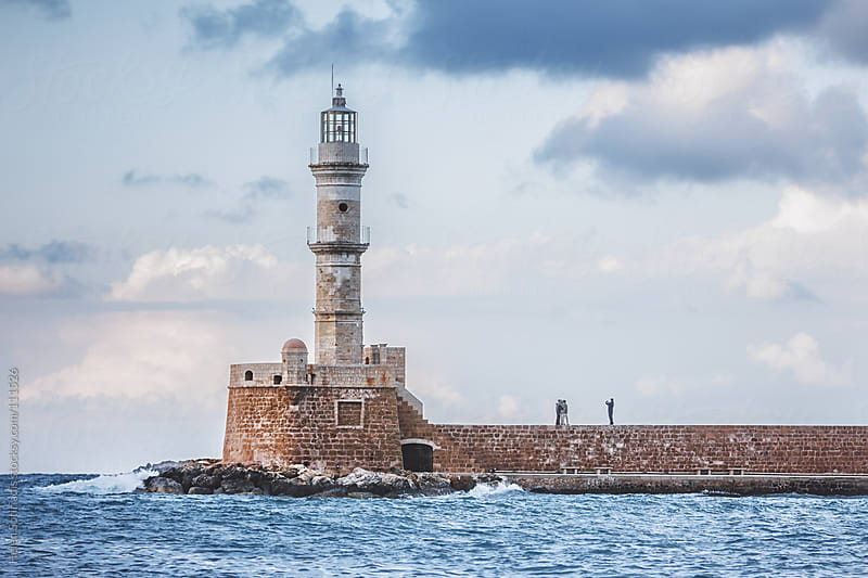 The Lighthouse at Chania, Crete, Greece by Helen Sotiriadis for Stocksy United