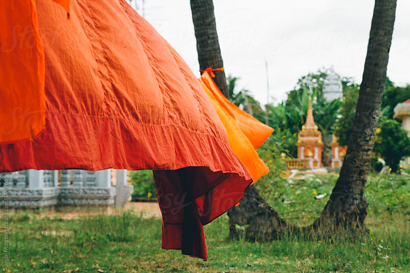 Buddhist Monastic Robes by Jesse Morrow for Stocksy United