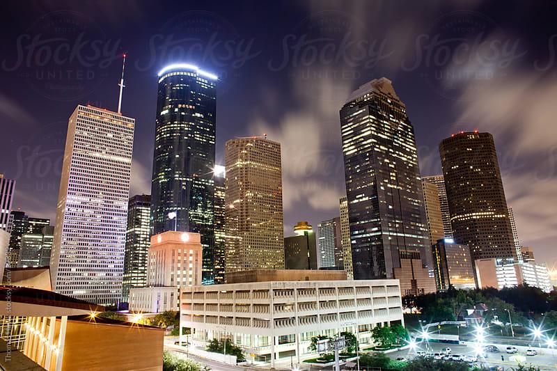 Houston cityscape at night by Thomas Hawk for Stocksy United