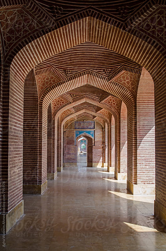 The Shah Jahan Mosque Thatta, Sindh province, Pakistan.  by Agha Waseem Ahmed for Stocksy United