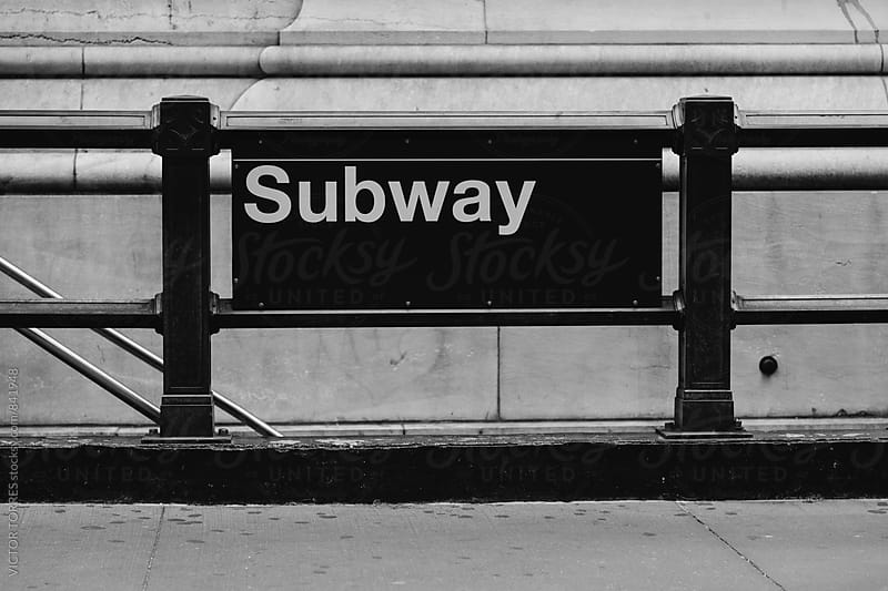 New York City Subway Sign by Victor Torres for Stocksy United