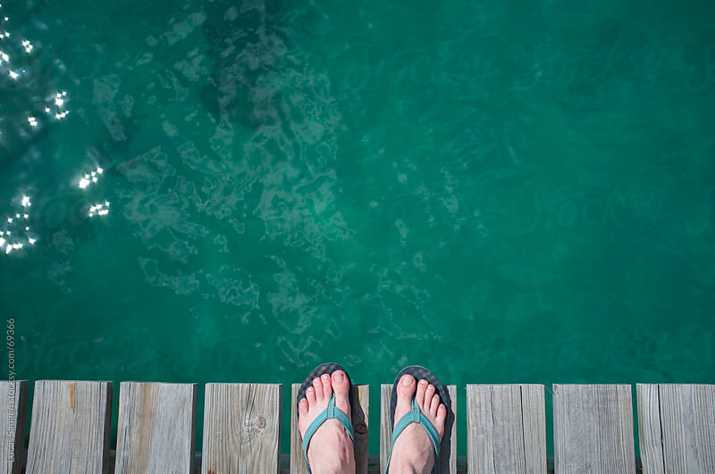 Toes on Dock by Lucas Saugen for Stocksy United