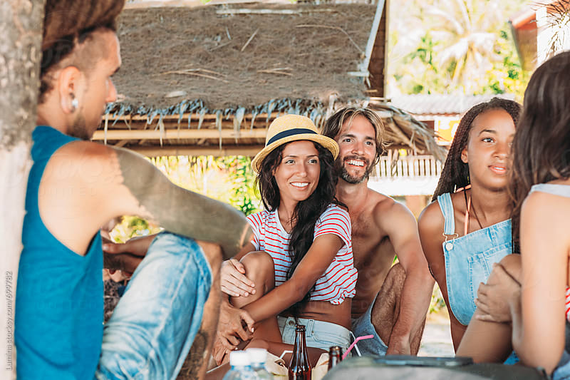 Group of People on Vacation Together by Lumina for Stocksy United