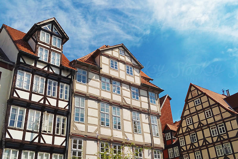 Half-timbered houses in Hannover by Harald Walker for Stocksy United