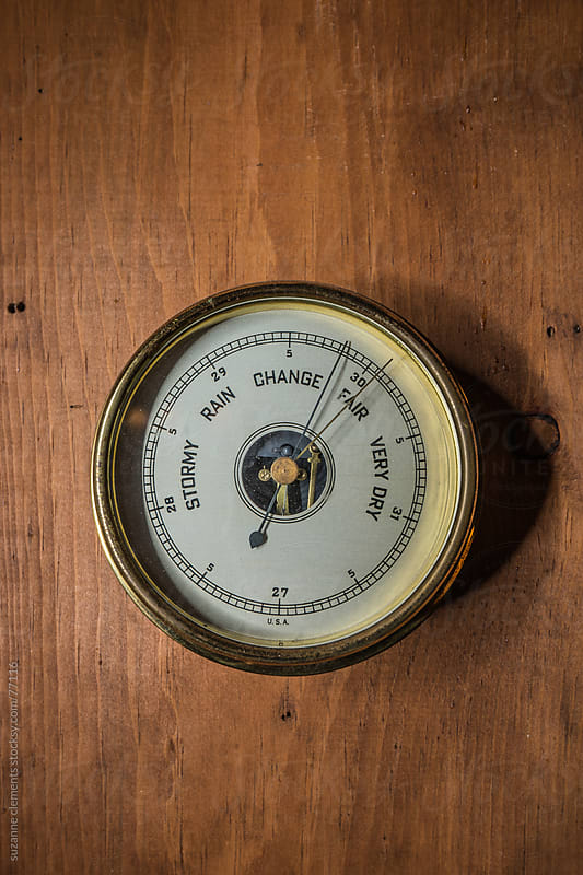 Antique Barometer at the Cabin by suzanne clements for Stocksy United