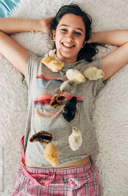 chickens by Melanie DeFazio for Stocksy United