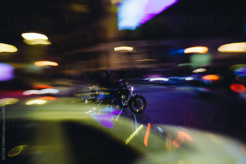 Blurred Traffic Scene by VICTOR TORRES for Stocksy United