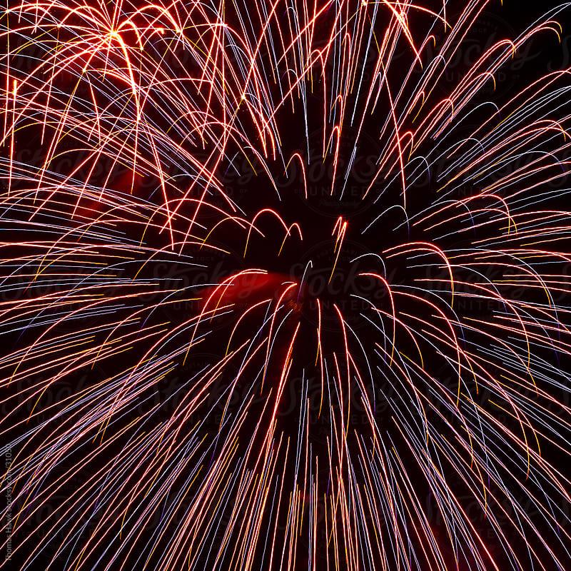 Fireworks Over Lake Arrowhead by Thomas Hawk for Stocksy United