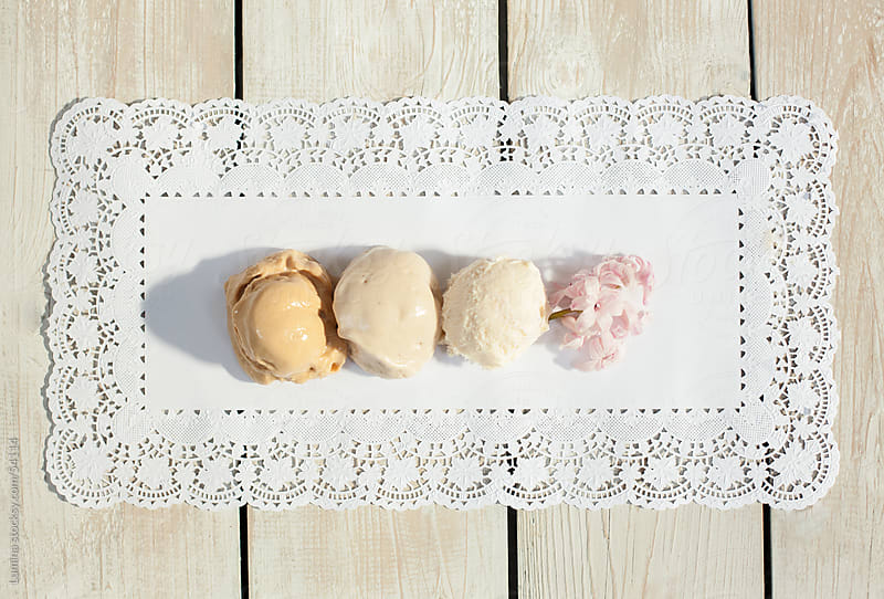 Pastel Ice-Cream Serving by Lumina for Stocksy United