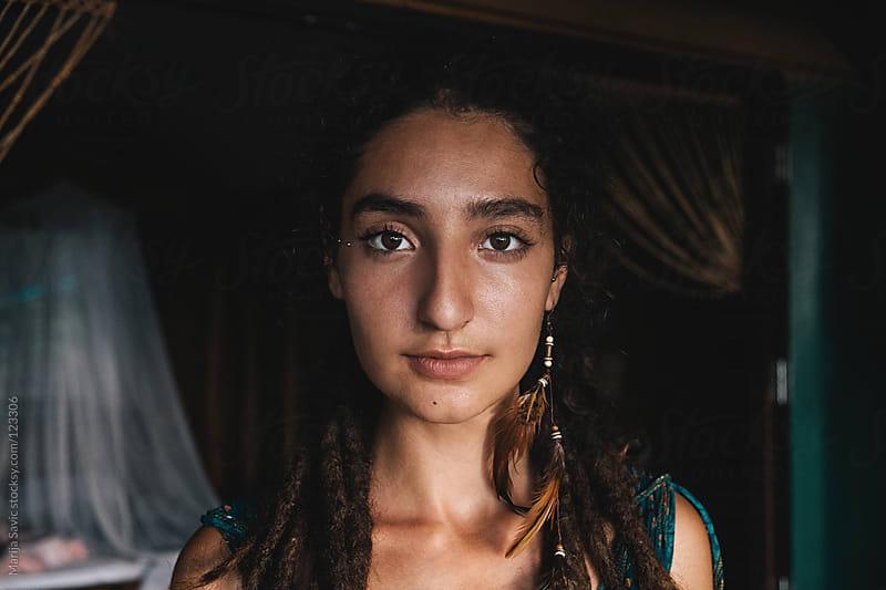 Real woman's portrait.  by Marija Savic for Stocksy United