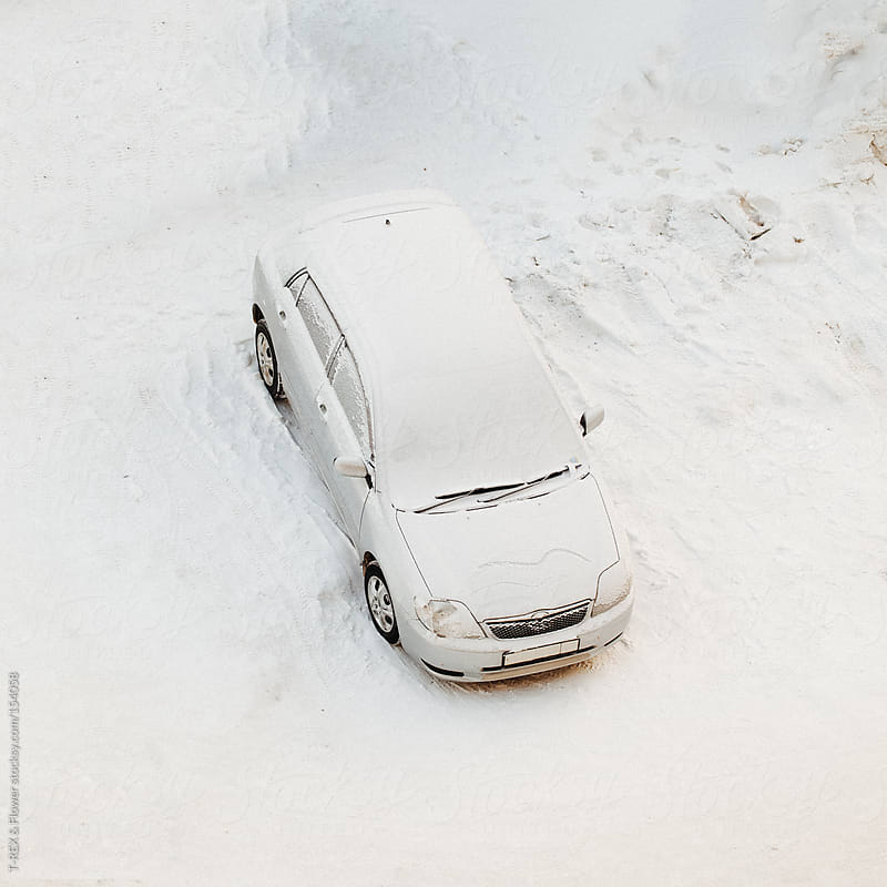 Car under the snow by T-REX & Flower for Stocksy United