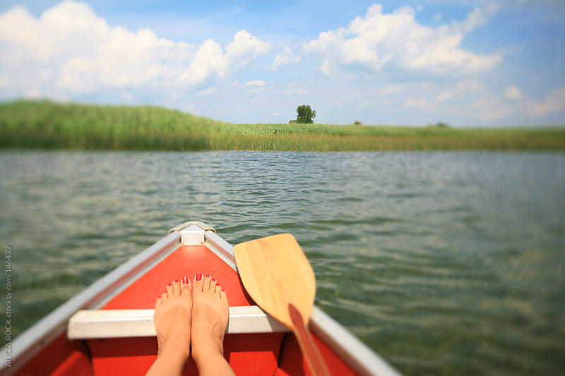 Resting While In A Canoe - Horizontal by ALICIA BOCK for Stocksy United