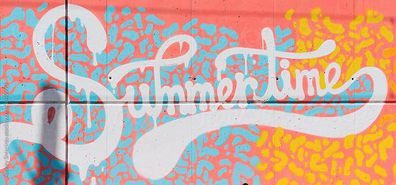 Summertime graffiti/mural. by Marko Milanovic for Stocksy United