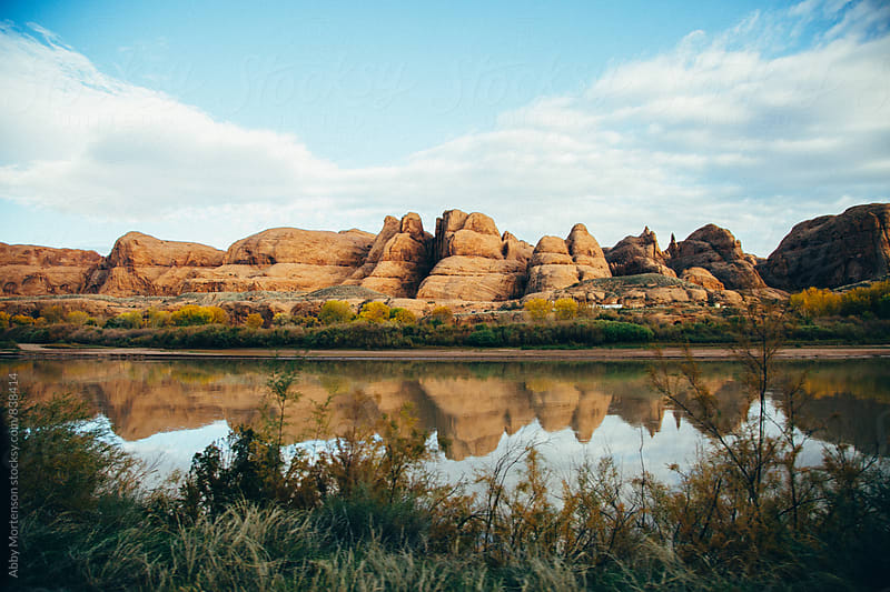 Rock Formation Reflection by Abby Mortenson for Stocksy United