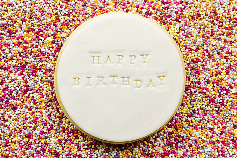 Happy Birthday on Sprinkles by Kirsty Begg for Stocksy United