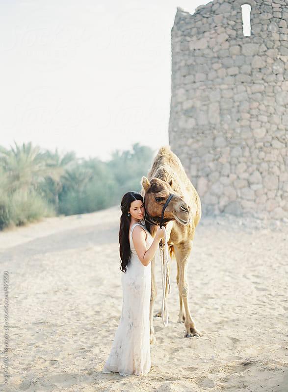 Dubai Desert Bride  by Vicki Grafton Photography for Stocksy United