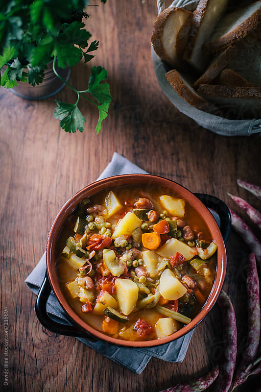 Minestrone soup by Davide Illini for Stocksy United