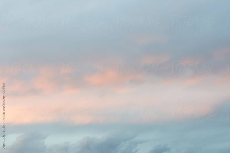 Pink and blue sky by Ann-Sophie Fjelloe-Jensen for Stocksy United