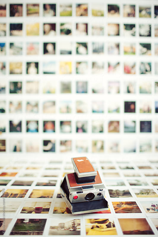 Polaroid Wall by Kevin Russ for Stocksy United