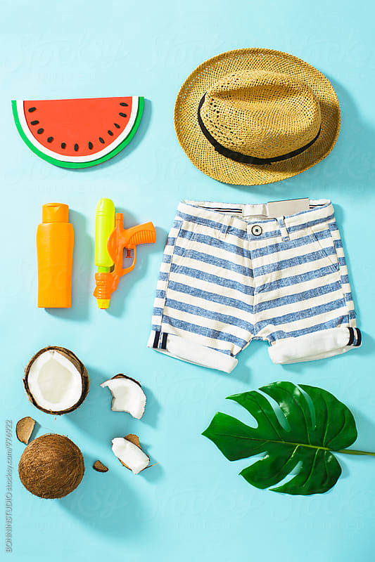 Child summer essentials.  by BONNINSTUDIO for Stocksy United