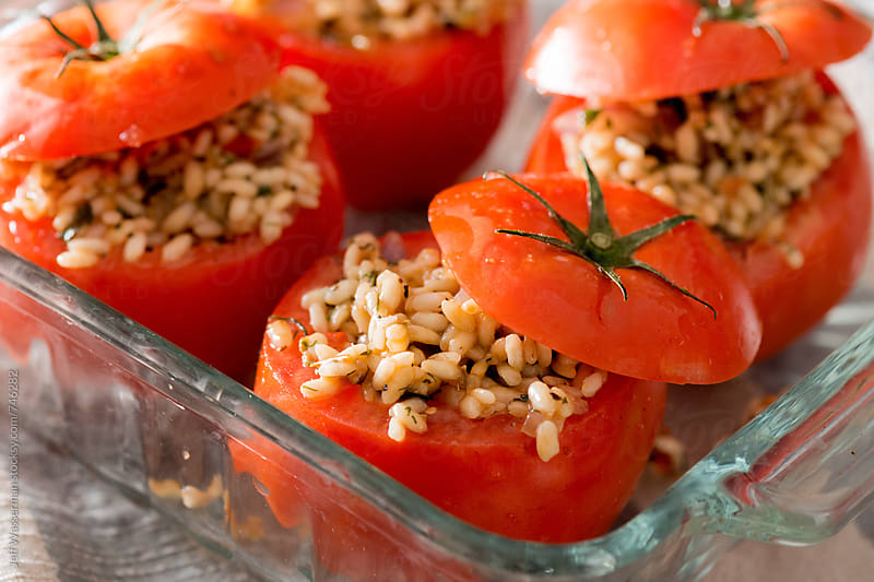 Raw Stuffed Tomatoes by Studio Six for Stocksy United