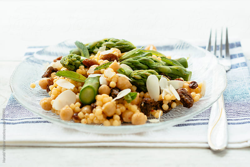 Asparagus Pearl Couscous Salad by Harald Walker for Stocksy United