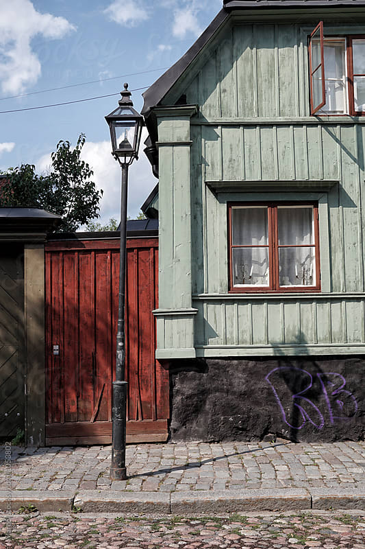 Old street in Stockholm by Marcel for Stocksy United