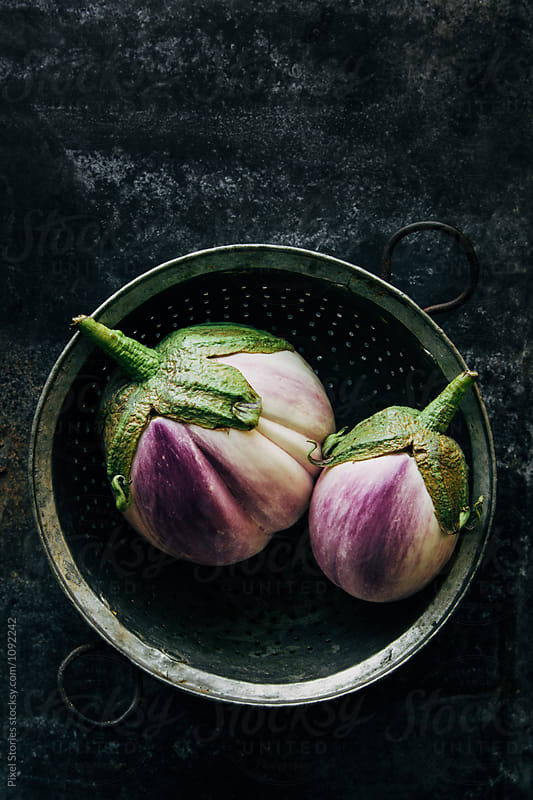 Barbarella eggplants by Pixel Stories for Stocksy United