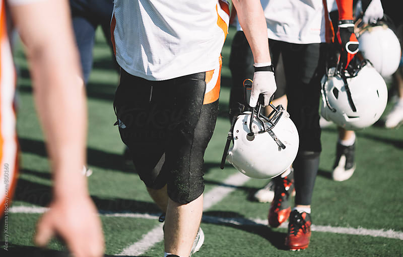american football players by Alexey Kuzma for Stocksy United