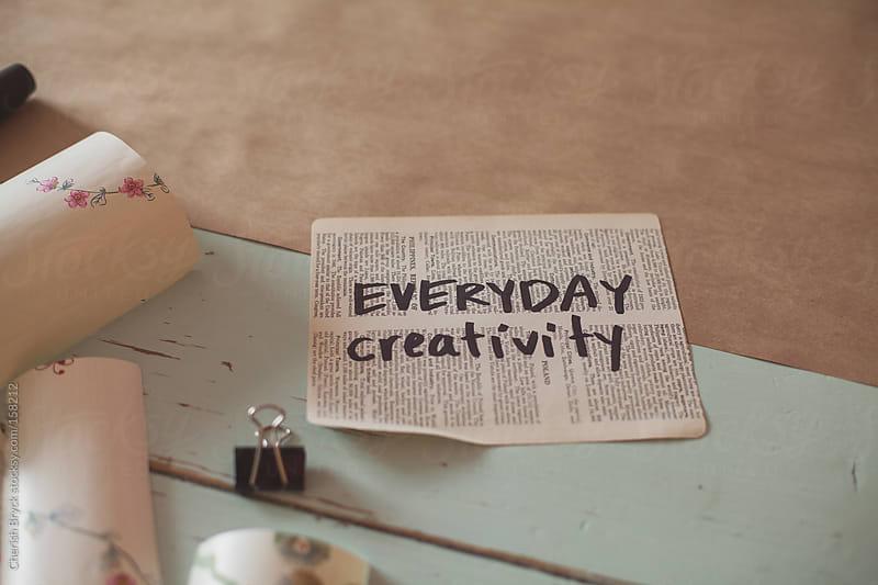 Everyday creativity. by Cherish Bryck for Stocksy United