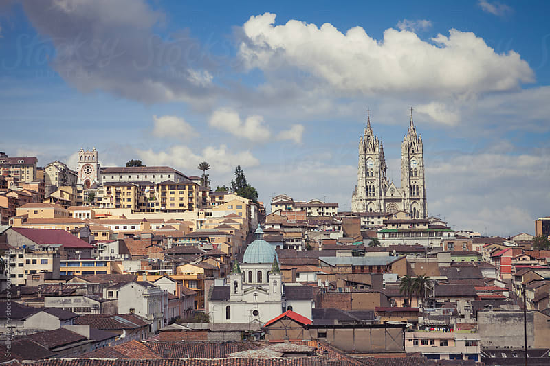 The historical center of old town Quito, Ecuador by Shelly Perry for Stocksy United