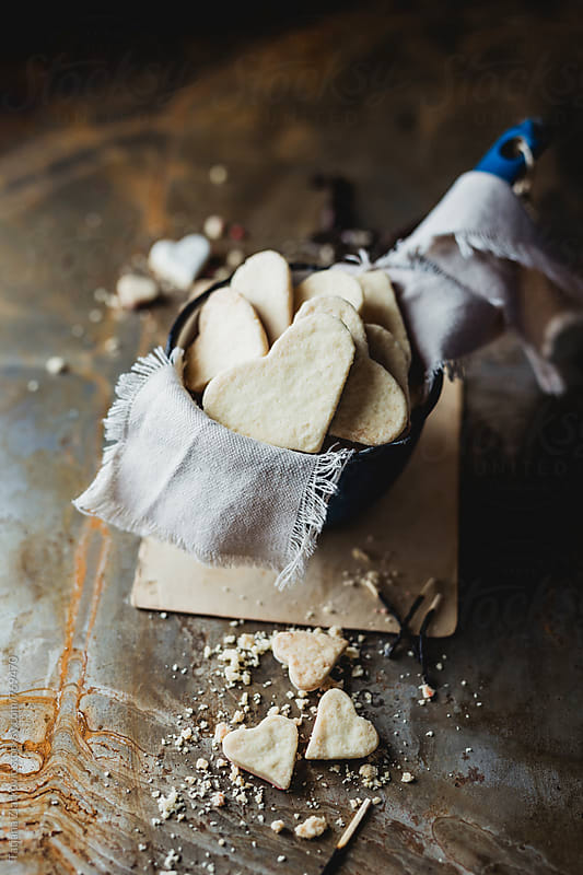Heart shaped cookies by Tatjana Ristanic for Stocksy United