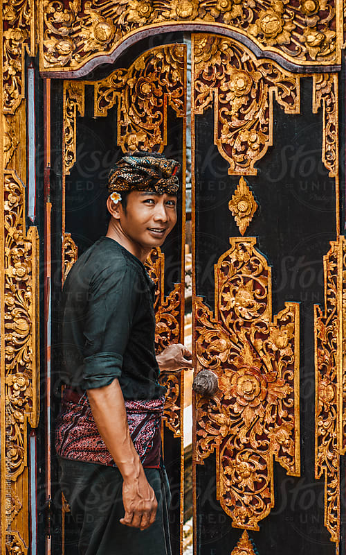 Balinese Man in Traditional Clothing by Alexander Grabchilev for Stocksy United