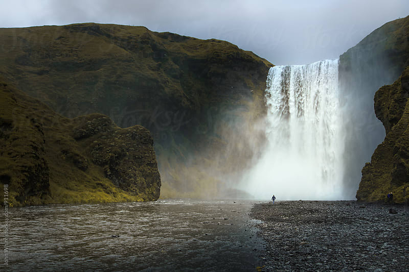 Skogafoss Waterfall. Iceland. by John White for Stocksy United