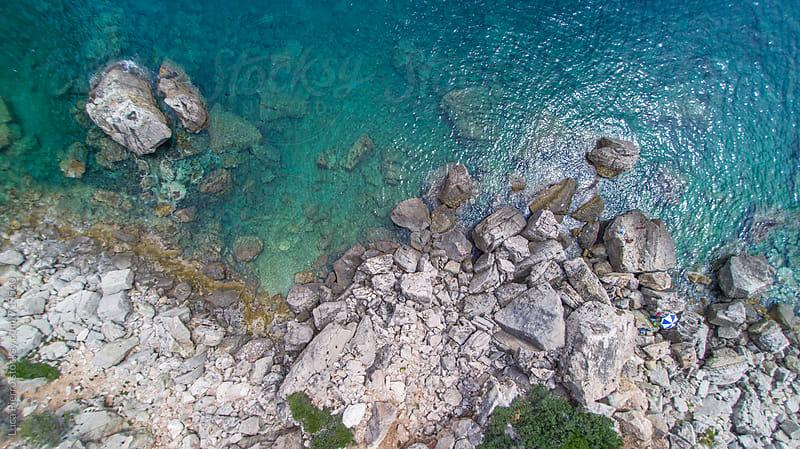 Aerial view of Perda Longa mountain, Sardinia by Luca Pierro for Stocksy United