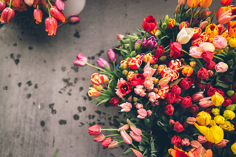 Flowers at the Market by Arthur Chang for Stocksy United