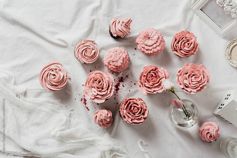 Homemade decorated muffins by Tatjana Ristanic for Stocksy United