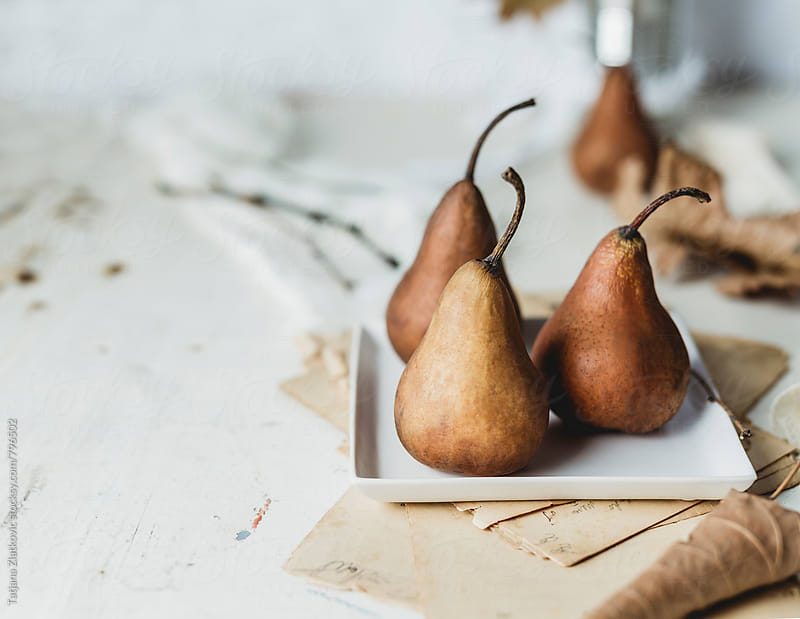 Pears on the table by Tatjana Zlatkovic for Stocksy United