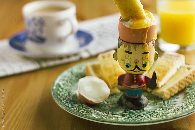 Boiled egg horizontal by Kirsty Begg for Stocksy United