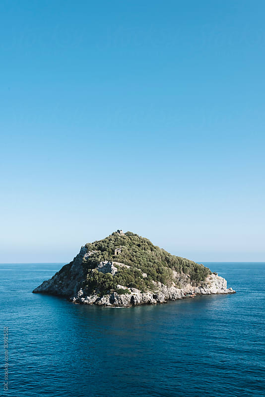 Island in the sea by Simone Becchetti for Stocksy United