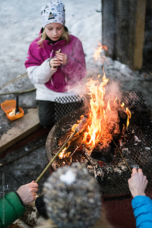 winter barbeque by Andreas Gradin for Stocksy United