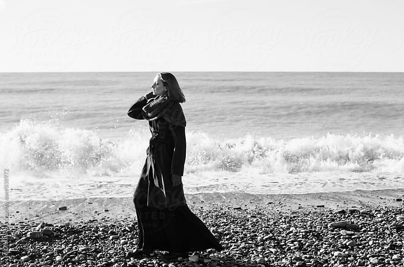 Woman at the seacoast  by Lyuba Burakova for Stocksy United