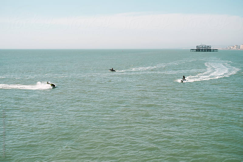 Jet ski's in Brighton by Sam Burton for Stocksy United