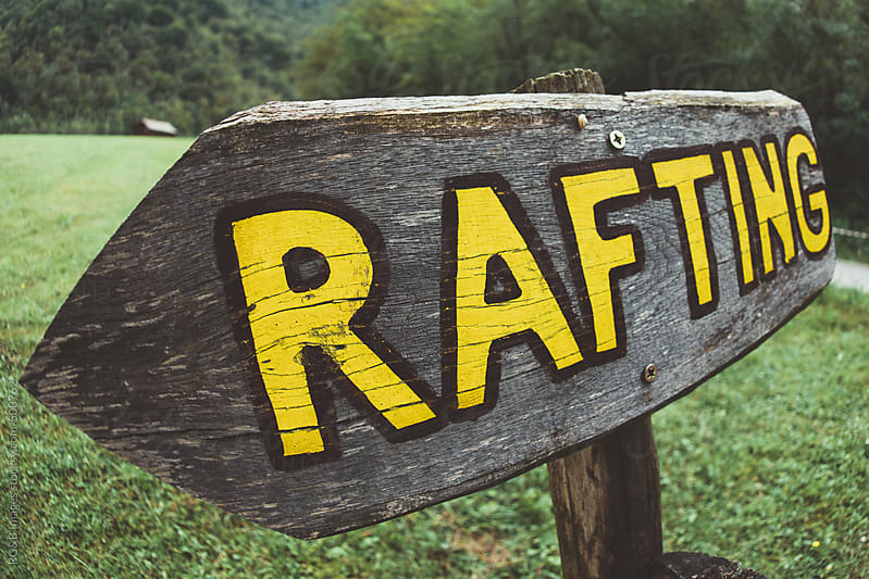 rafting sign  by RG&B Images for Stocksy United