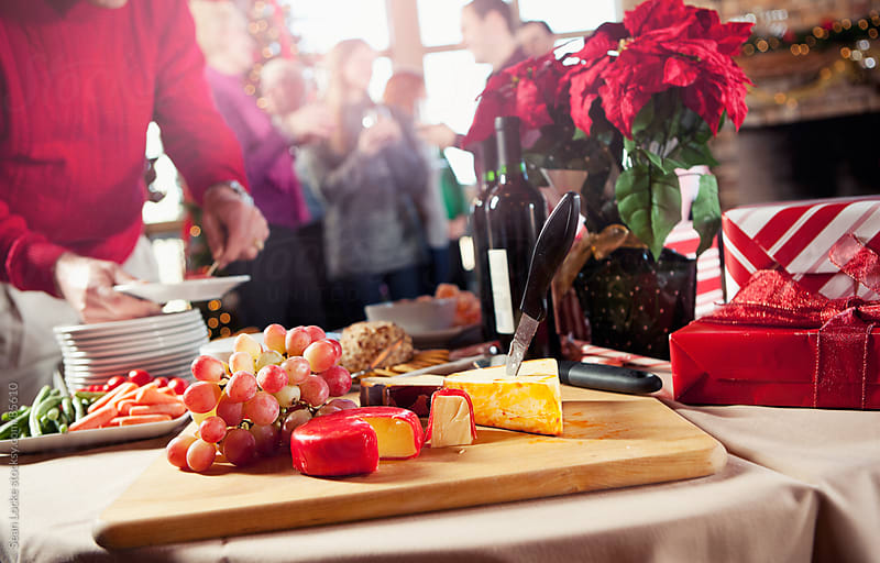 Christmas: Holiday Party Food Spread by Sean Locke for Stocksy United