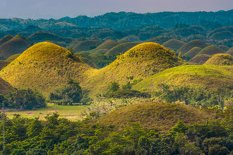 Chocolate Hills landscape in Philippines by Soren Egeberg for Stocksy United