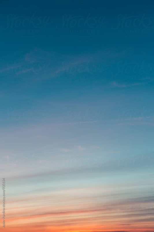 Texture of a sunset sky by Javier Pardina for Stocksy United