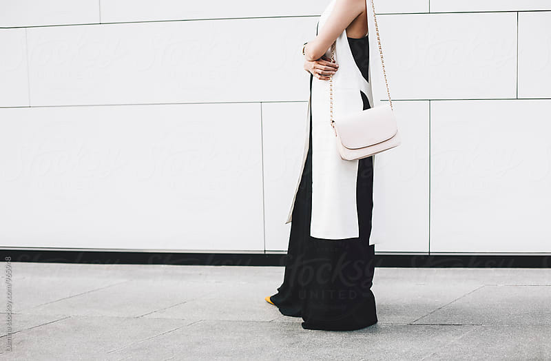 Woman Carrying Her Handbag